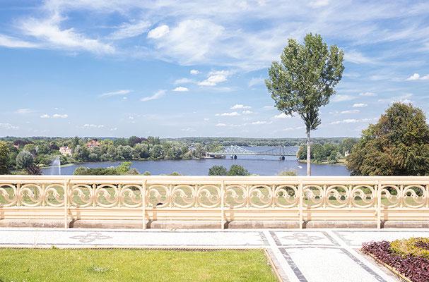 Aussicht zur Glienicker Brücke