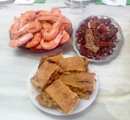 Gambón, Aufschnittplatte, Empanada