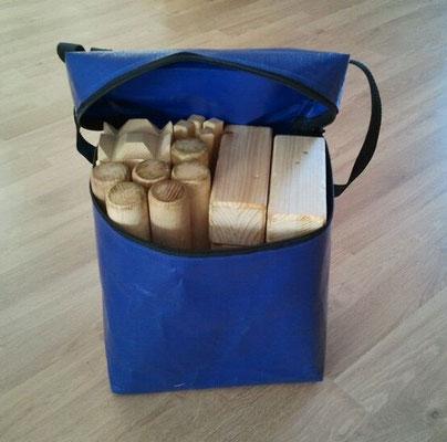 Verpackung für das Spiel Kubb