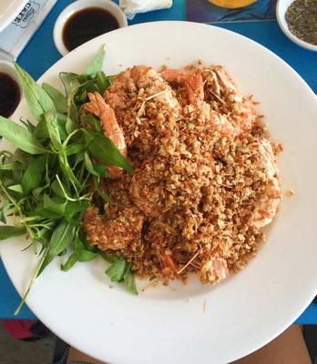 Crevettes au beurre et ail