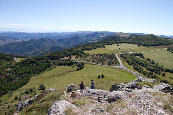 Prachtig uitzicht vanaf de Mont Gerbier de Jonc.