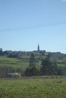 Het dorpje Vernoux en Vivarais met ongeveer 2000 inwoners.