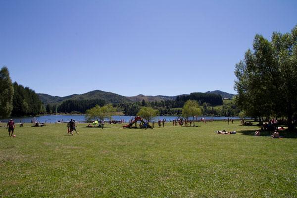 Het meer Lac Martial wat een mooie tussenstop is op weg naar de beklimming van de Mont Gerbier de Jonc.