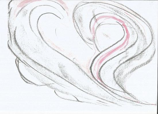 Zeichnung Herztöne von Syelle Beutnagel