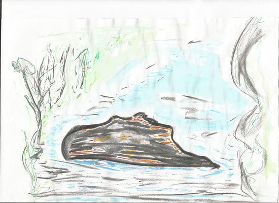 Zeichnung Stein von Syelle Beutnagel