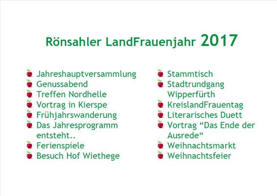 Das LandFrauenjahr 2017 (Foto: D.Mathes)