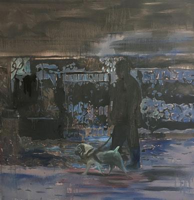 Öl auf Baumwolle, 140 x 140 cm, 2020