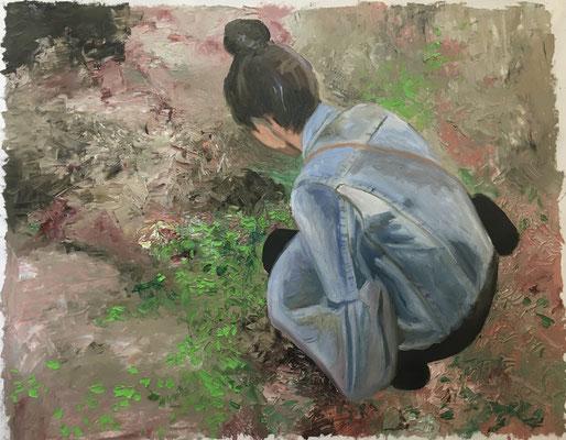 Viola, 50 x 70 cm, Öl auf Baumwolle