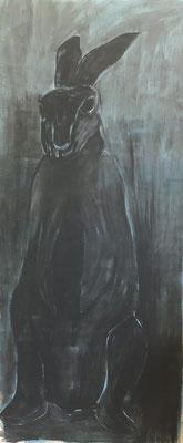 Ölfarbe auf Baumwolle, 200 x 90 cm, 2020.