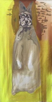 Öl auf Baumwolle, 210 x 110 cm, 2020