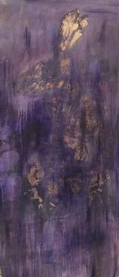 Öl auf Baumwolle & Goldimitat,  200 x 100 cm, 2020