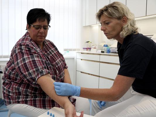 Haut-Allergie-Testung
