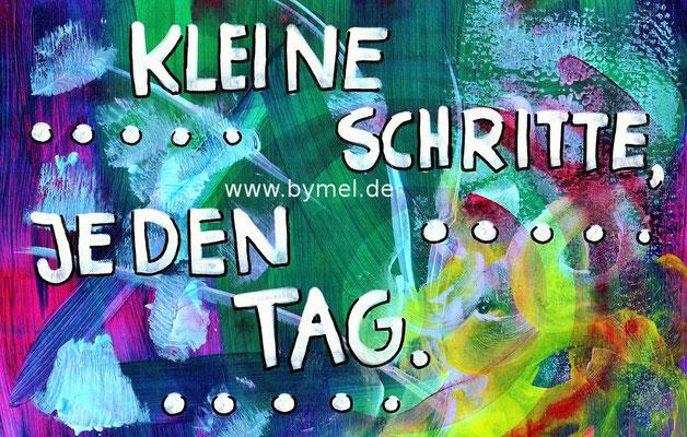 """""""Kleine Schritte, jeden Tag"""", erhältlich als Klappkarte A6, Preis: 3,50€ zzgl. Versand"""