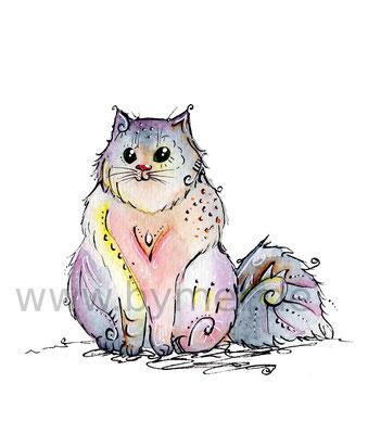 """""""Nordische Katze"""",  erhältlich als limitierter, handsignierter Druck für 25€ zzgl. Versand"""