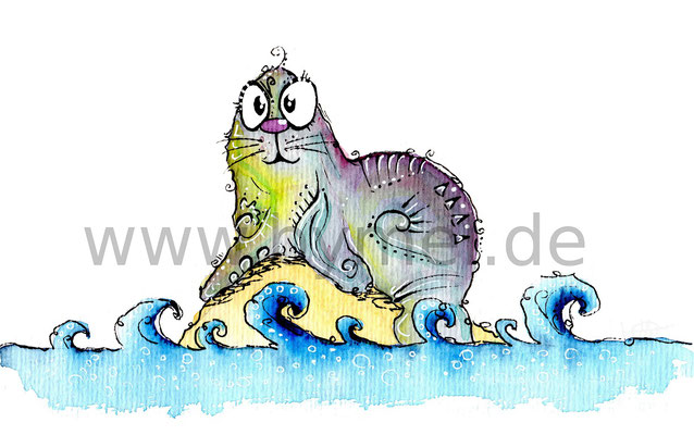 """""""Robby"""",  Aquarell auf 300g/qm Aquarellpapier, Preis: 60€ zzgl. Versand, erhältlich als limitierter, handsignierter Druck für 40€ zzgl. Versand"""