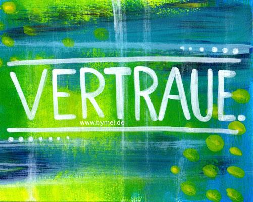"""Vertraue"", erhältlich als Klappkarte A6, Preis: 3,50€ zzgl. Versand"