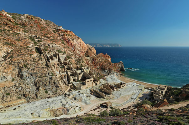 The old Sulphur Mines at the east coast of Milos.