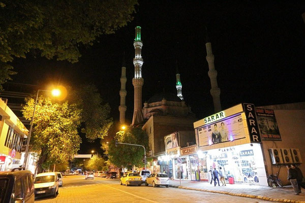Igdir mosque at night.