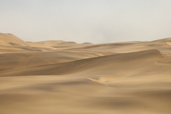 Vast expanses of sand