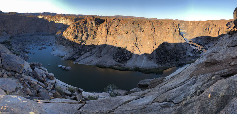 Orange River Gorge at sunset.