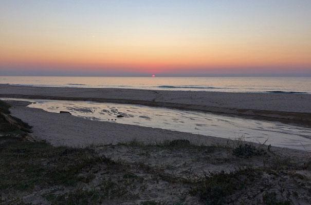 Sunset at Mindelo.
