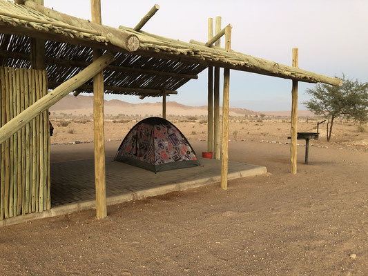 Our tent in Sesriem.