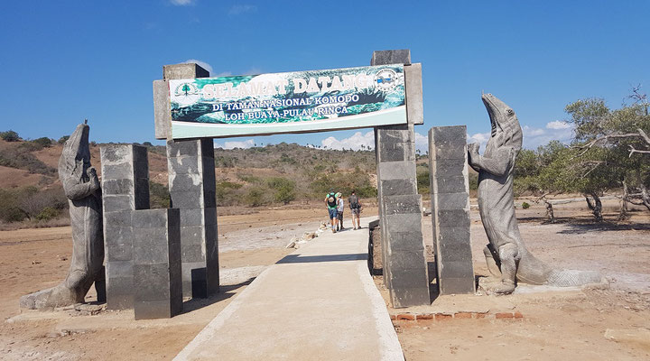 Entrance to the national park on Rinca. © Dieuwertje Smolenaars