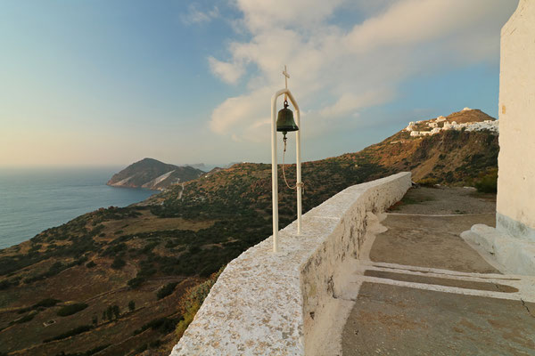 View on Plaka and the north coast of Milos.
