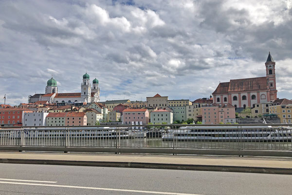Passau is a beautiful city. I base this on looking at it from the car window...