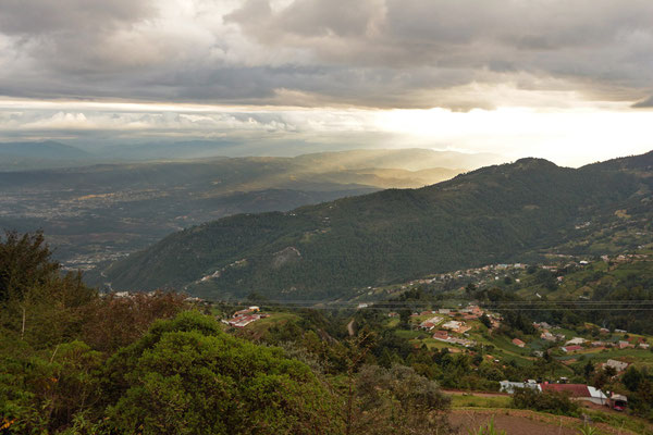View from the Cuchumatanes to the surrounding lowlands.