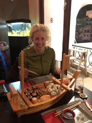Sushi dinner in Pigadia.