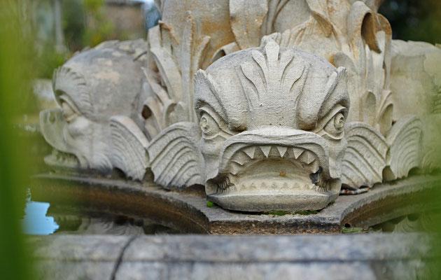 Creepy fountain.
