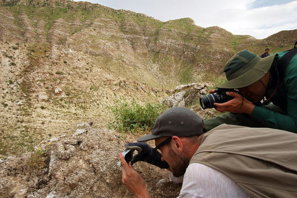 Masoud and me photographing. © Laura Tiemann