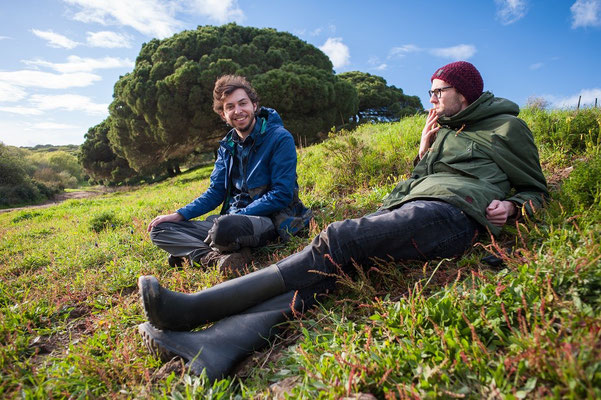 A break after photographing all those snakes. © Matthijs Hollanders
