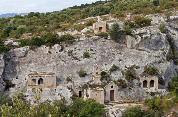 Ancient churches situated on the edge of the cliffs.