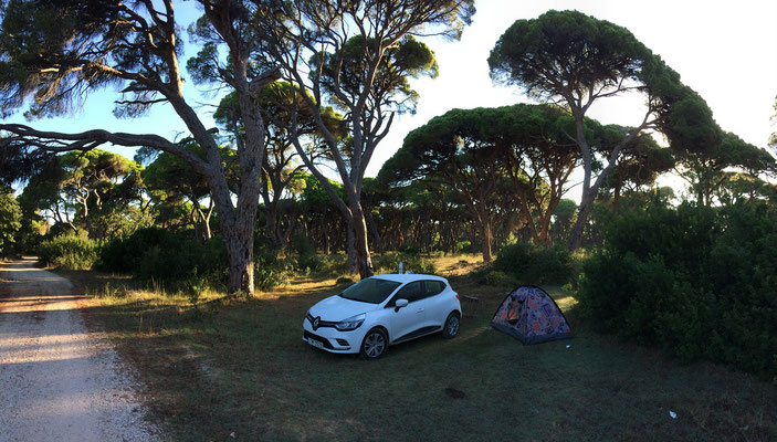 Our camp at Strofilia.