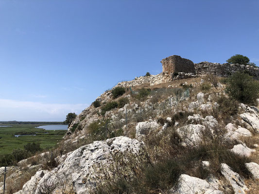 The ancient Teichos Dymaion Fortress of 1300 BC.