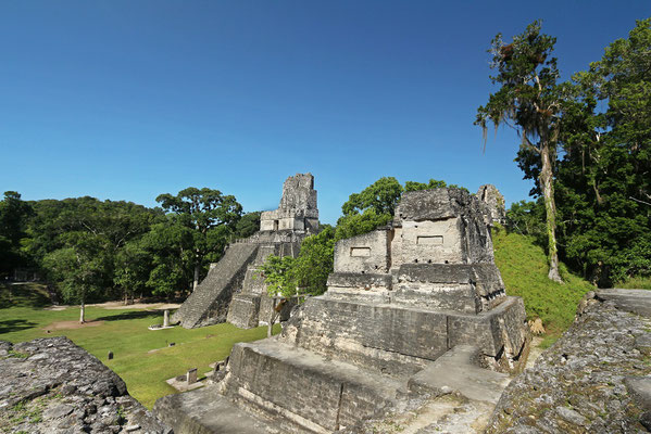 View on Templo II and the Gran Plaza