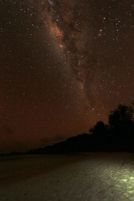 Starry skies over Anse Cocos