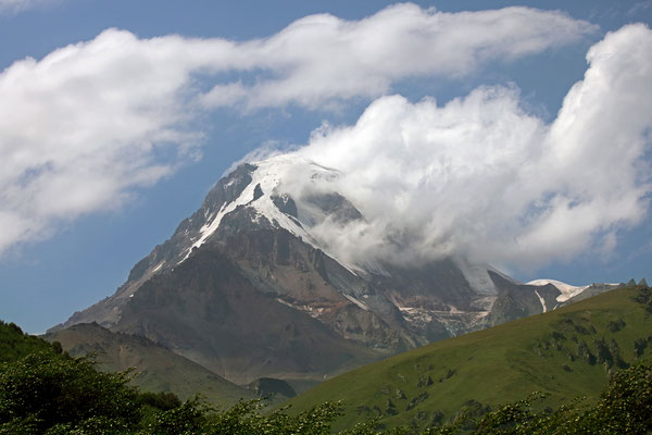 Peak of Mt. Kazbek.