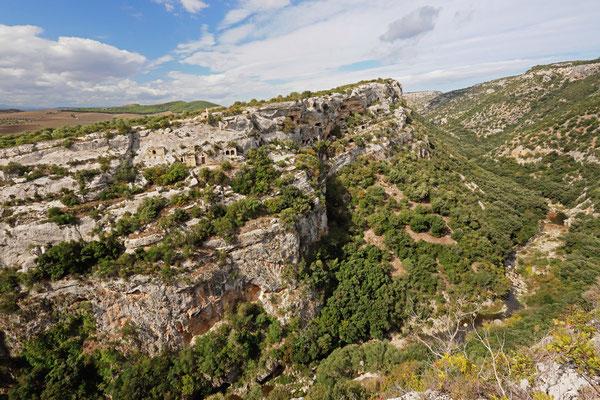 Beautiful ravine outside Matera.