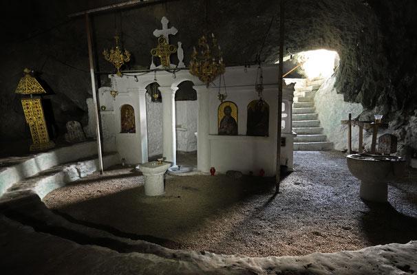 The underground chapel Agios Ioannis