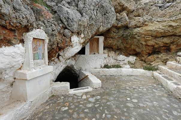 Entrance to the underground chapel