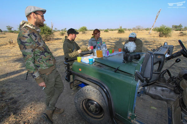 Tea and crumpets in the African bush.