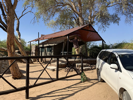 Our safari tent. © Maarten Slootjes