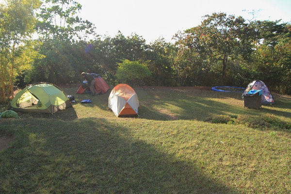 Our tents at the Ntchisi Forest Lodge.