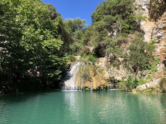 The upper pool, the perfect place to spend a hot day.