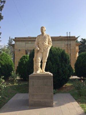 Statue of a mass murderer in Gori.