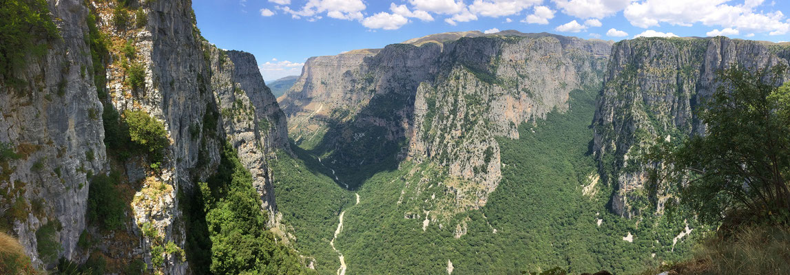 Vikos Gorge, one of the deepest gorges in the world.