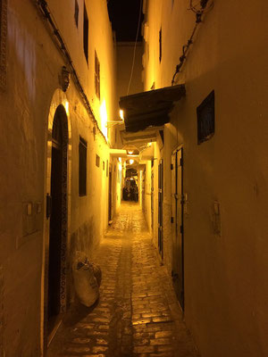 Narrow streets in the Medina.